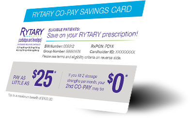 RYTARY Co-Pay Savings Card